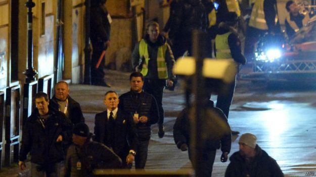 Daniel Craig filma la película Spectre, de James Bond