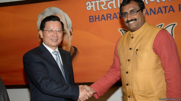 Ram Madhav With Mr. Qiang Wei,Member of the Central Committee of Communist Party of China