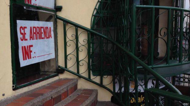 Aviso de se arrienda en Bogotá