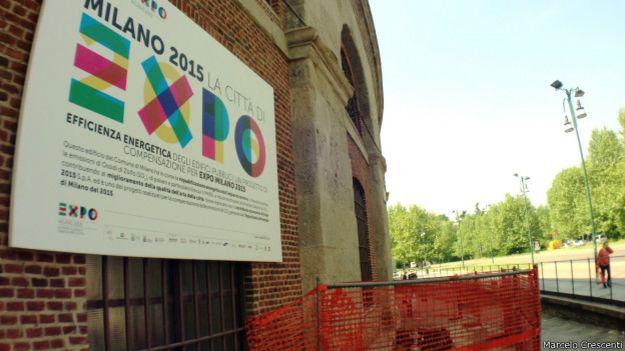 Obra da Expo em Milão | Foto: Marcelo Crescenti