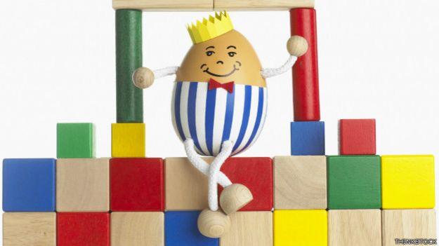 Humpty Dumpty en su pared de ladrillos...