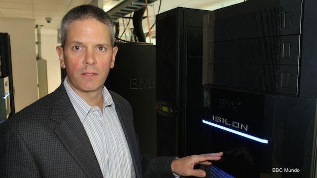 Tim Voyt, representante de la empresa EMC, en su laboratorio de Big Data del parque tecnológico de la Universidad Federal de Río de Janeiro.