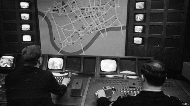 Sistema de control de tráfico en Reino Unido en 1968
