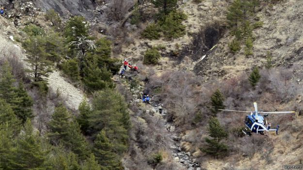 Labores de búsqueda del avión de Germanwings