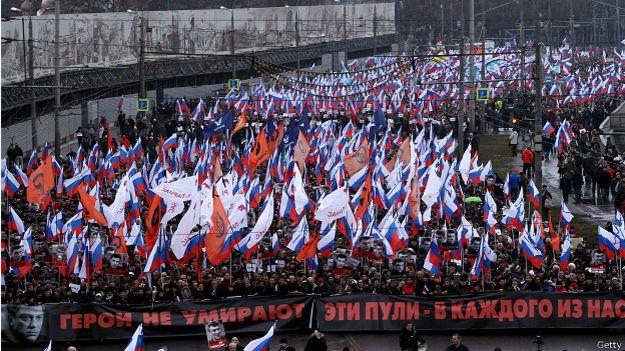Марш в память о Борисе Немцове в Москве