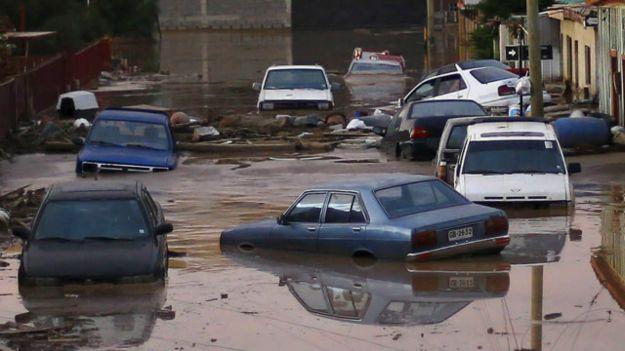 Inundaciones en el norte de Chile