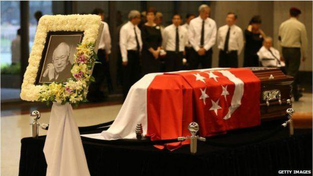 新加坡前总理李光耀的国葬仪式于3月29日在国立大学文化中心举行。