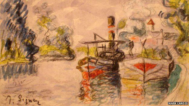 Copia de una acuarela por Paul Signac