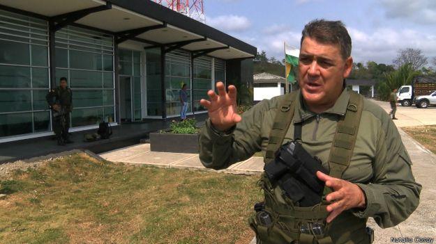 el general Ricardo Restrepo, director de Antinarcóticos de la Policía.