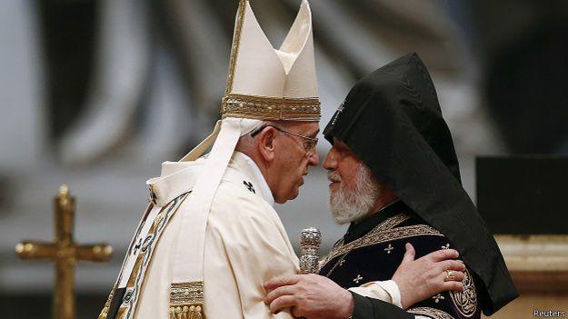 Папа Франциск и католикос всех армян Гарегин II