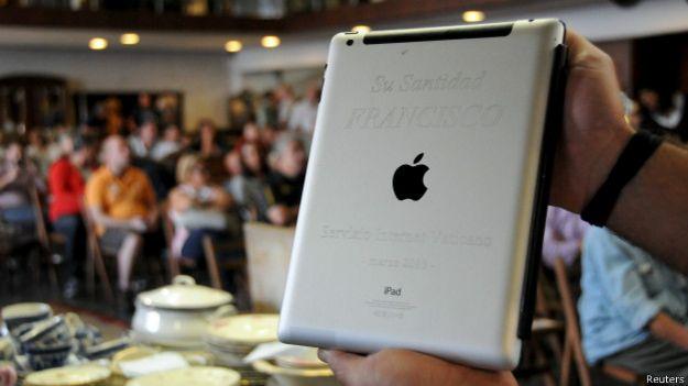 Принадлежавший Франциску iPad