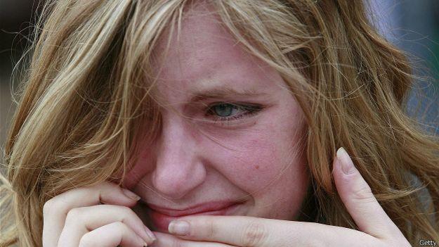 Плачущая студентка