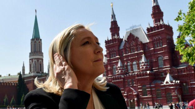 Марин Ле Пен на Красной площади