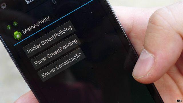 Aplicativo de 'policiamento inteligente' (Foto: BBC)