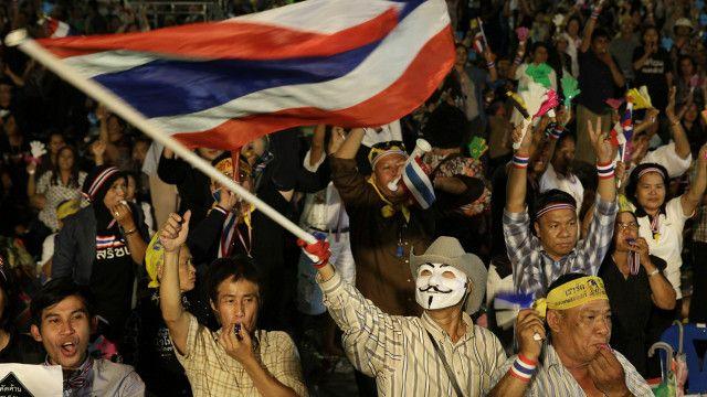 Biểu tình phản đối dự luật ân xá ở Bangkok