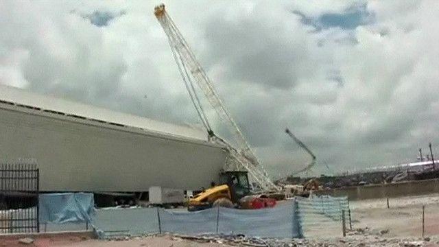 grua estadio Brasil
