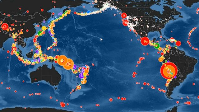 Mapa de sismos