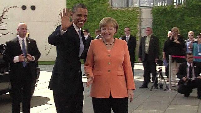 Angela Merkel y Barack Obama.