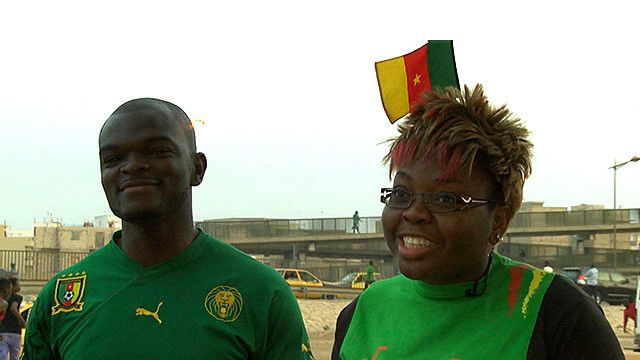 Hinchas de Camerún