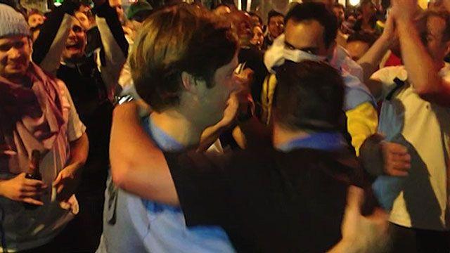 Ameaça de briga entre uruguaio e inglês acaba em abraço e aplausos (BBC)