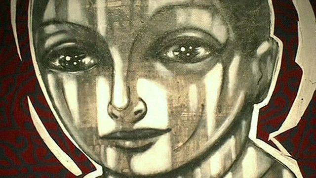 El pintor sirio Mohannad Orabi