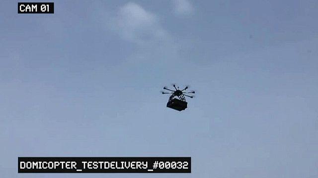Avión no tripulado utilizado para enviar pizzas.