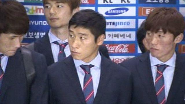 Jugadores de la selección de Corea del Sur