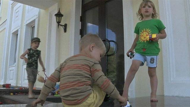 Niños refugiados en Ucrania