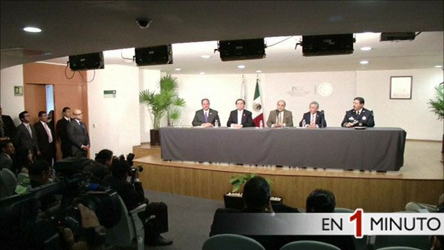 Anuncio de la Procuraduría General de la República (PGR) de México
