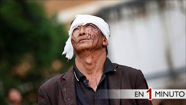 Hombre herido en el terremoto