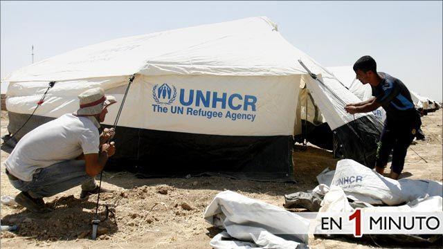 Campamento de refugiados iraquíes