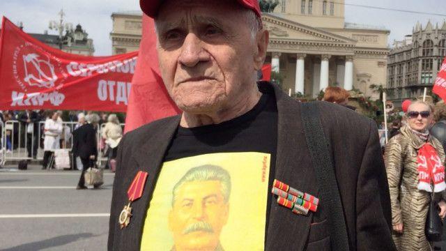 Участник первомайской демонстрации