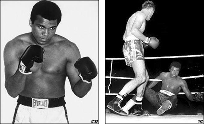 Muhammad Ali và Henri Cooper trong trận đấu năm 1963