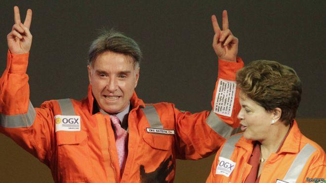 Eike Batista y Dilma Rousseff