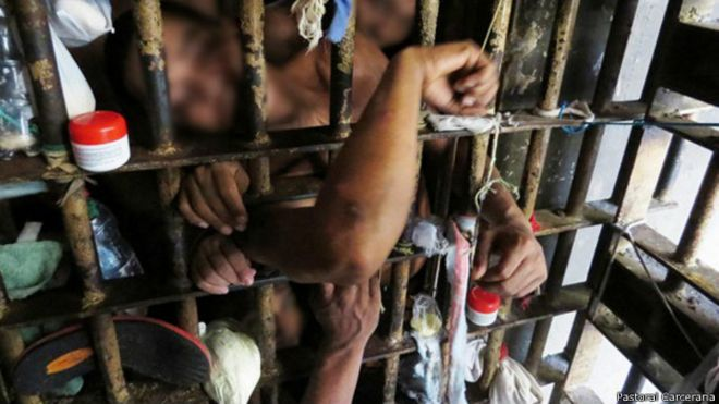 Prisão superlotada no Pará, em foto de arquivo da Pastoral Carcerária