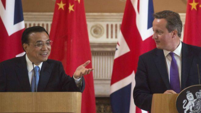 中國總理李克強曾於2014年底訪問英國。中國國家主席習近平將從10月19日起對英國進行首次國事訪問。