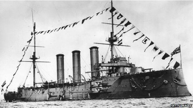 Buque HMS Monmouth de la Real Armada Británica