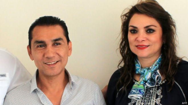 José Luis Abarca y María de los Ángeles Pineda en una foto de julio 2014