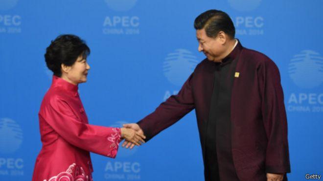 習近平與韓國總統朴槿惠