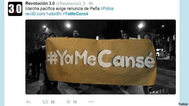 Tuit de foto #Yamecanse de @Revolucion3_0