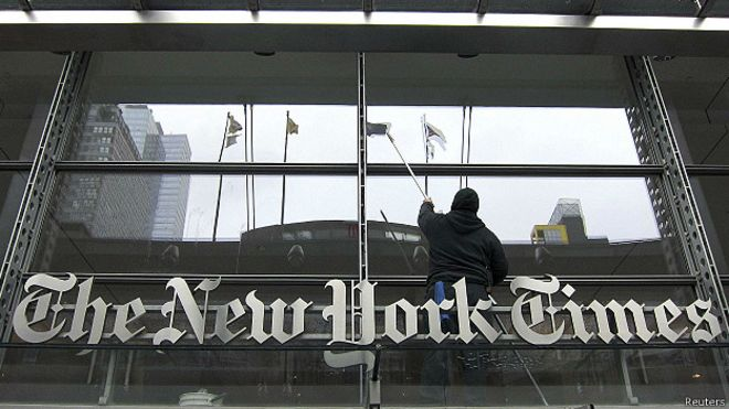 Prédio do 'NYT' (Reuters)