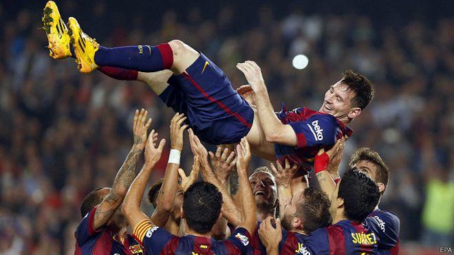 ميسي ينتزع لقب أفضل هداف في تاريخ الدوري الإسباني