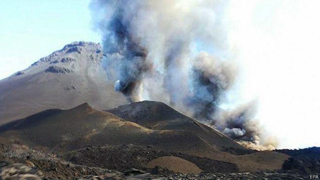 Volcán en Cabo Verde