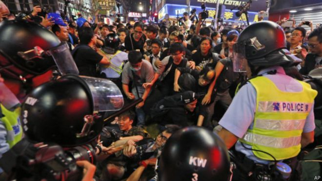 旺角示威者