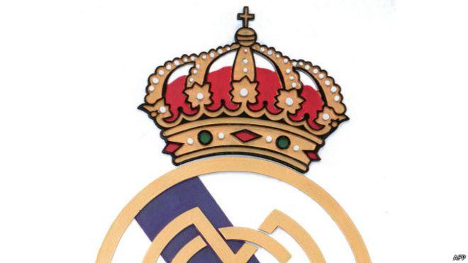 شعار ريال مدريد الحالي قبل ازالة الصليب