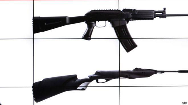 Rifles kalashnikov