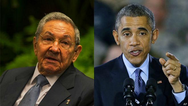 Castro y Obama