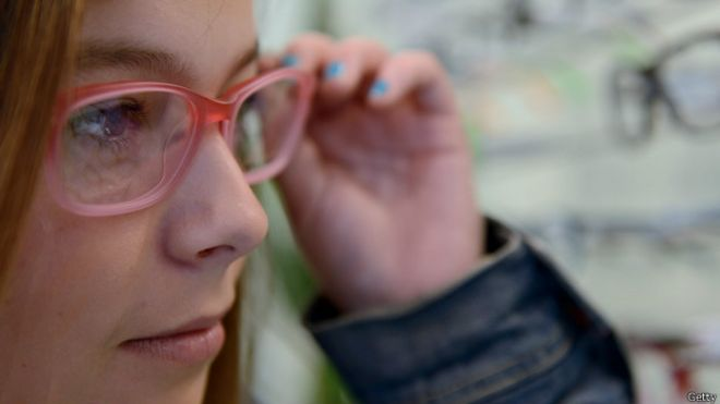 eyes, girl with glasses