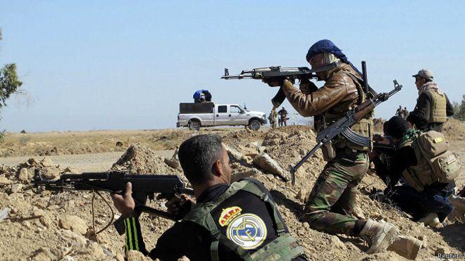 وصول تعزيزات عسكرية بعد هجوم لتنظيم الدولة شمال مدينة الرمادي العراقية