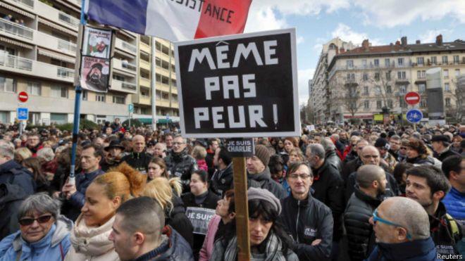 Демонстрация в Лионе